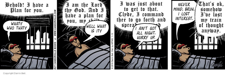 Comic Strip Darrin Bell  Candorville 2016-01-13 wake up