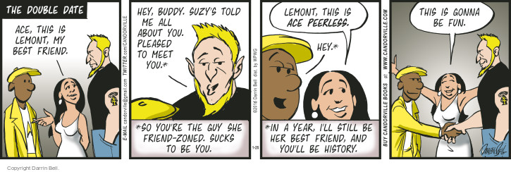 Comic Strip Darrin Bell  Candorville 2016-01-25 double date