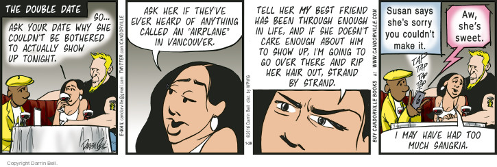 Comic Strip Darrin Bell  Candorville 2016-01-29 double date