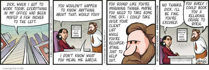 Comic Strip Darrin Bell  Candorville 2016-02-11 colleague