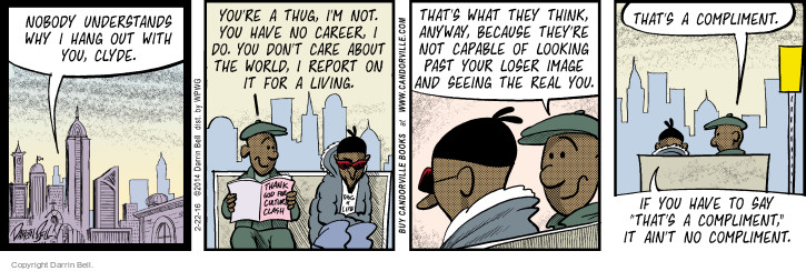 Comic Strip Darrin Bell  Candorville 2016-02-22 opposite
