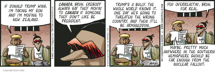 Comic Strip Darrin Bell  Candorville 2016-03-02 election day