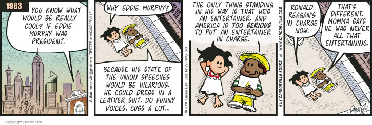 Comic Strip Darrin Bell  Candorville 2016-03-03 Reagan