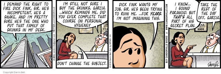 Comic Strip Darrin Bell  Candorville 2016-03-09 didn't