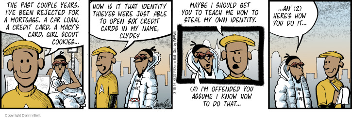 Comic Strip Darrin Bell  Candorville 2016-03-15 credit card