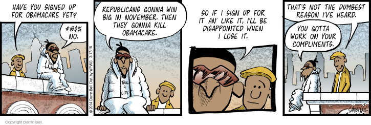 Comic Strip Darrin Bell  Candorville 2016-03-17 affordable care act