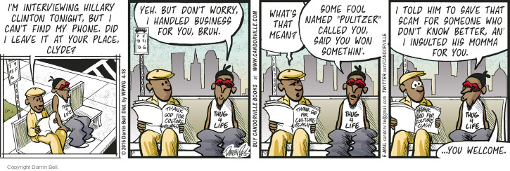 Comic Strip Darrin Bell  Candorville 2016-04-18 insult