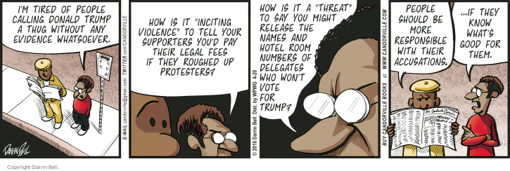 Comic Strip Darrin Bell  Candorville 2016-04-20 election day
