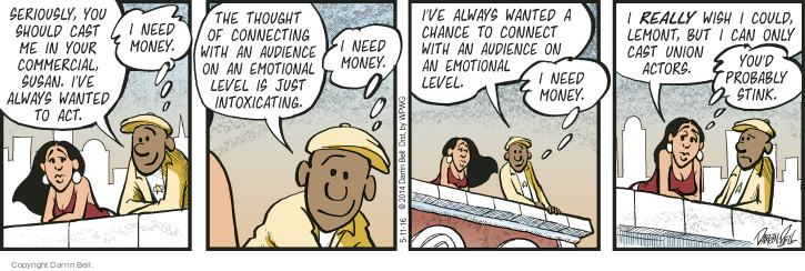 Comic Strip Darrin Bell  Candorville 2016-05-11 audience