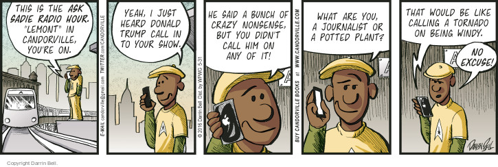 Comic Strip Darrin Bell  Candorville 2016-05-31 call-in