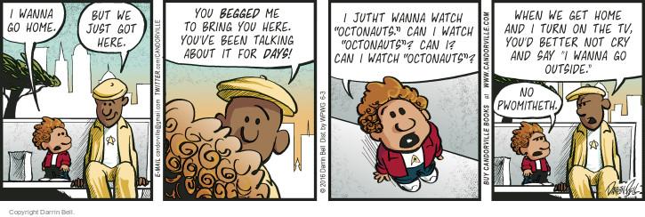 Cartoonist Darrin Bell  Candorville 2016-06-03 parenting