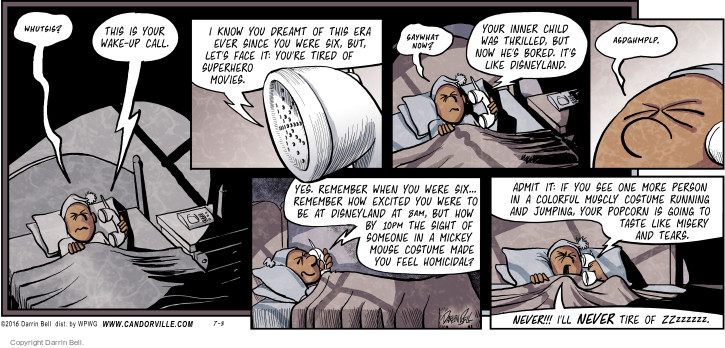 Comic Strip Darrin Bell  Candorville 2016-07-03 tear