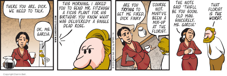 Comic Strip Darrin Bell  Candorville 2016-07-06 mix-up