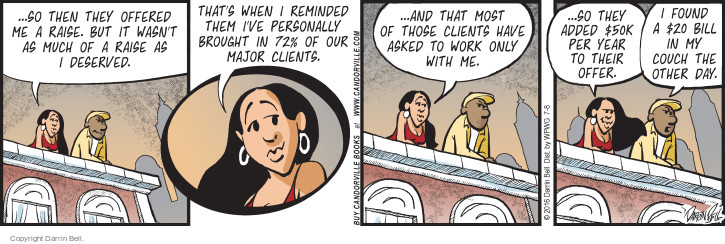 Comic Strip Darrin Bell  Candorville 2016-07-08 salary