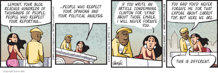Comic Strip Darrin Bell  Candorville 2016-07-13 2016 Election Hillary Clinton