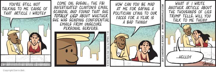 Comic Strip Darrin Bell  Candorville 2016-07-14 deception