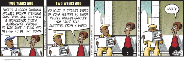 Comic Strip Darrin Bell  Candorville 2016-07-22 violent