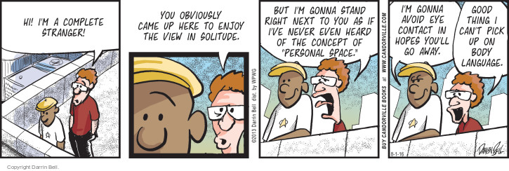 Comic Strip Darrin Bell  Candorville 2016-08-01 contact