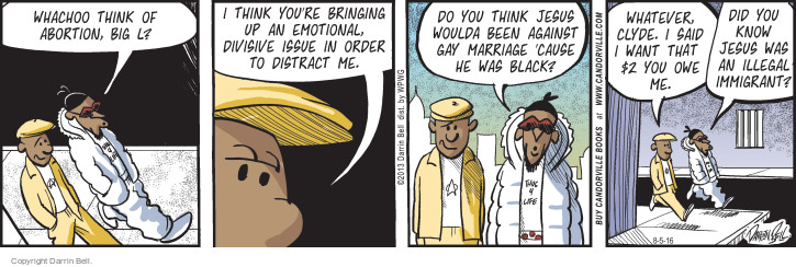 Comic Strip Darrin Bell  Candorville 2016-08-05 gay marriage