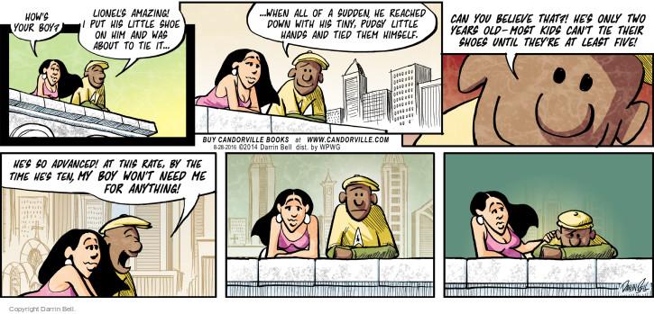 Comic Strip Darrin Bell  Candorville 2016-08-28 shoe