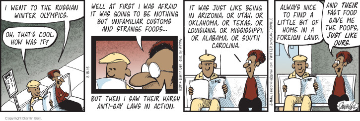 Comic Strip Darrin Bell  Candorville 2016-08-15 gay