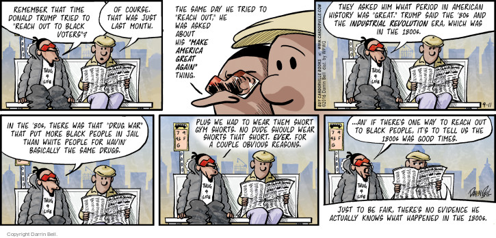 Comic Strip Darrin Bell  Candorville 2016-09-11 gym