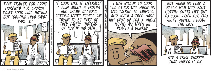 Comic Strip Darrin Bell  Candorville 2016-08-30 family movie