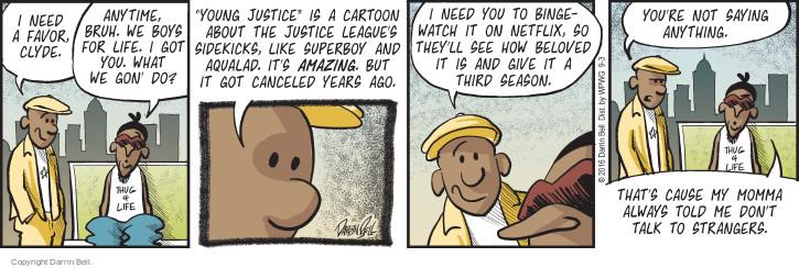 Comic Strip Darrin Bell  Candorville 2016-09-03 hero