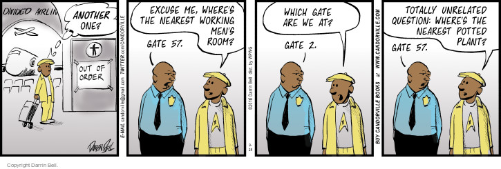 Comic Strip Darrin Bell  Candorville 2016-09-28 airport security