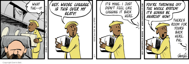 Comic Strip Darrin Bell  Candorville 2016-09-30 luggage