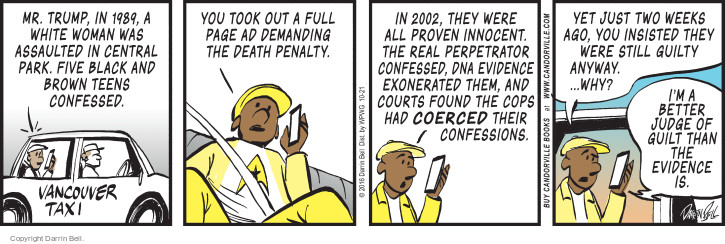 Comic Strip Darrin Bell  Candorville 2016-10-21 judge