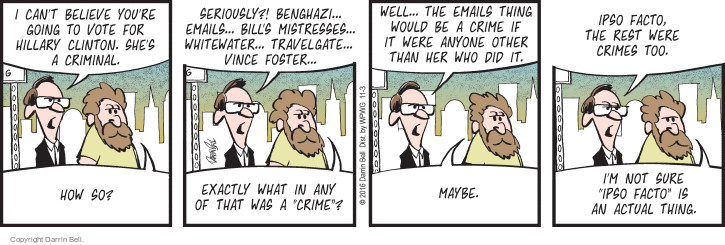 Comic Strip Darrin Bell  Candorville 2016-11-03 2016 Election Hillary Clinton