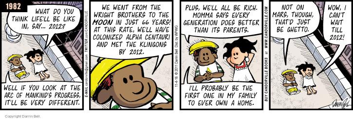 Cartoonist Darrin Bell  Candorville 2016-11-04 brother