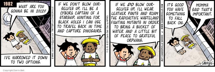 Cartoonist Darrin Bell  Candorville 2016-11-05 don't
