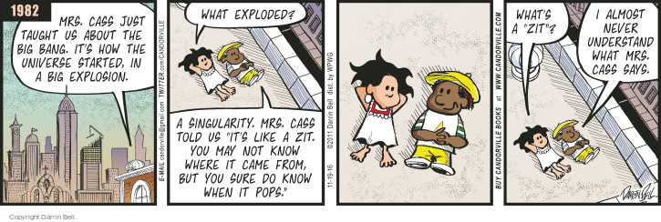 Comic Strip Darrin Bell  Candorville 2016-11-19 explosion