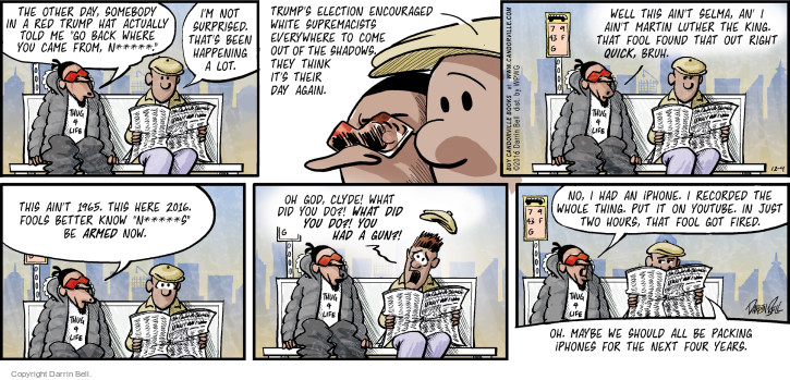 Comic Strip Darrin Bell  Candorville 2016-12-04 hat