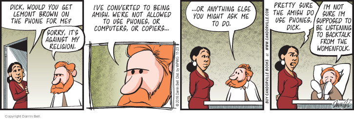 Comic Strip Darrin Bell  Candorville 2016-11-23 telephone