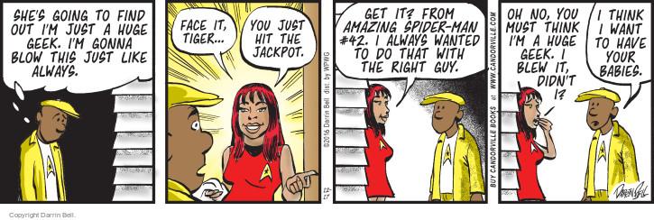 Comic Strip Darrin Bell  Candorville 2016-12-17 face