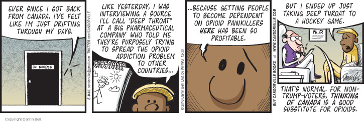 Comic Strip Darrin Bell  Candorville 2016-12-30 pharmaceutical