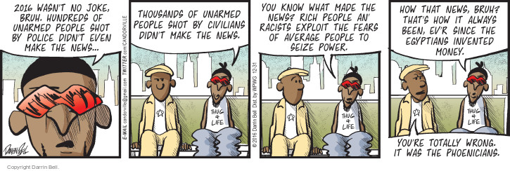 Comic Strip Darrin Bell  Candorville 2016-12-31 joke