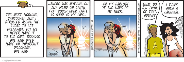 Comic Strip Darrin Bell  Candorville 2017-01-20 kiss