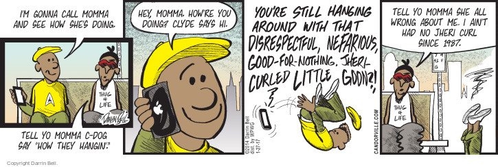 Comic Strip Darrin Bell  Candorville 2017-01-27 hair