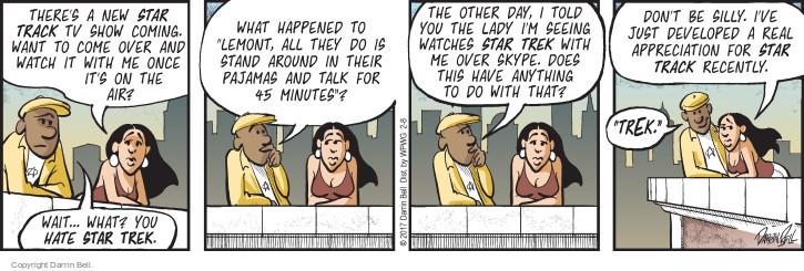 Cartoonist Darrin Bell  Candorville 2017-02-08 don't