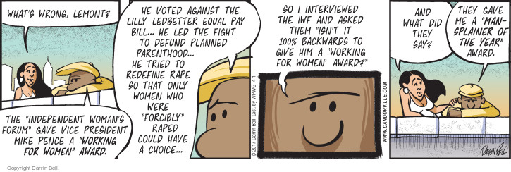 Comic Strip Darrin Bell  Candorville 2017-04-01 woman president