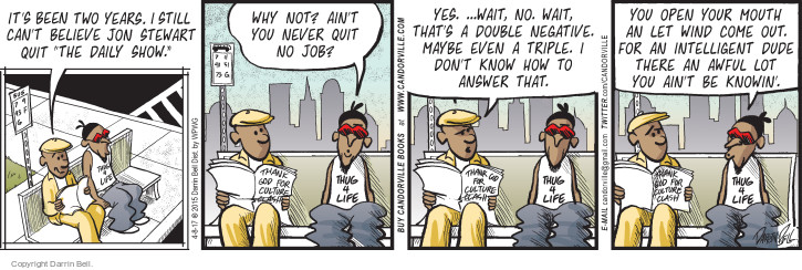 Comic Strip Darrin Bell  Candorville 2017-04-08 host
