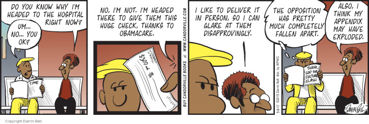 Comic Strip Darrin Bell  Candorville 2017-05-08 Barack Obama