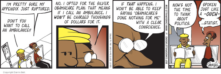Comic Strip Darrin Bell  Candorville 2017-05-09 affordable care act