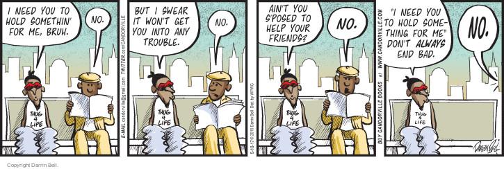 Cartoonist Darrin Bell  Candorville 2017-05-10 trouble