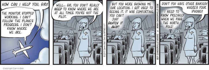Comic Strip Darrin Bell  Candorville 2017-06-07 flight