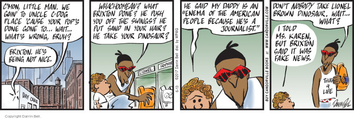Comic Strip Darrin Bell  Candorville 2017-06-13 hair